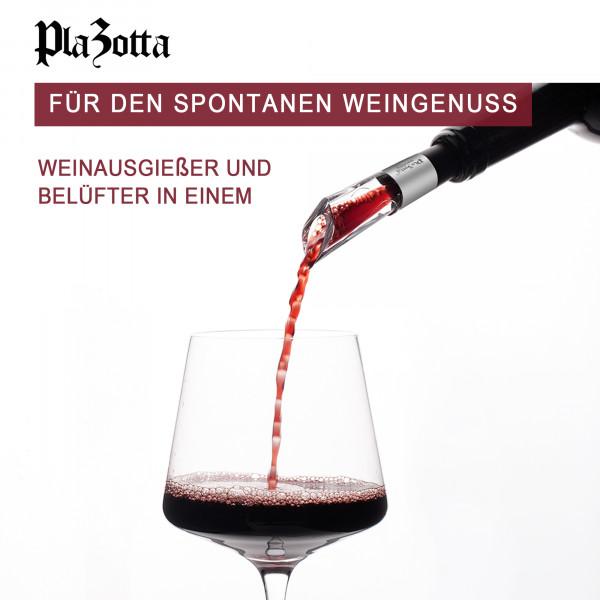 Weinausgießer Dekantierausgießer Belüfter Tropffrei