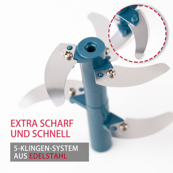 5-Klingen Multi Zerkleinerer Rührblatt L Blau