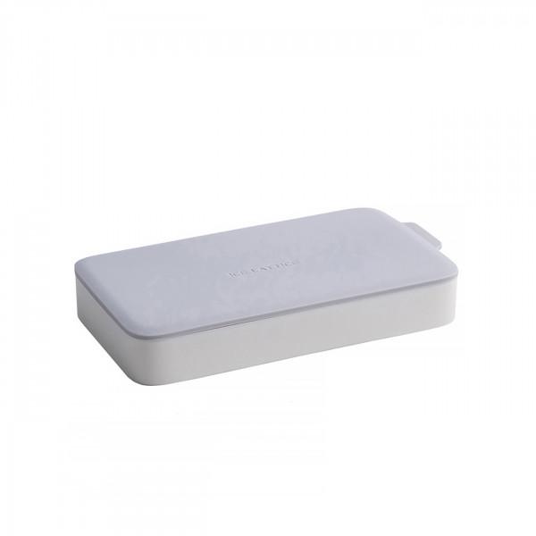 Eiswürfelform Rechteck Eiswürfel Grau/Weiß mit Deckel aus Silikon