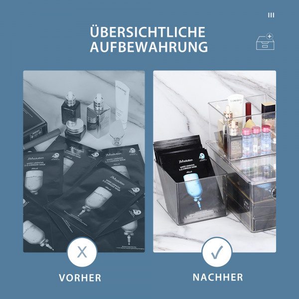 Aufbewahrungsbox Transparent mit Deckel L