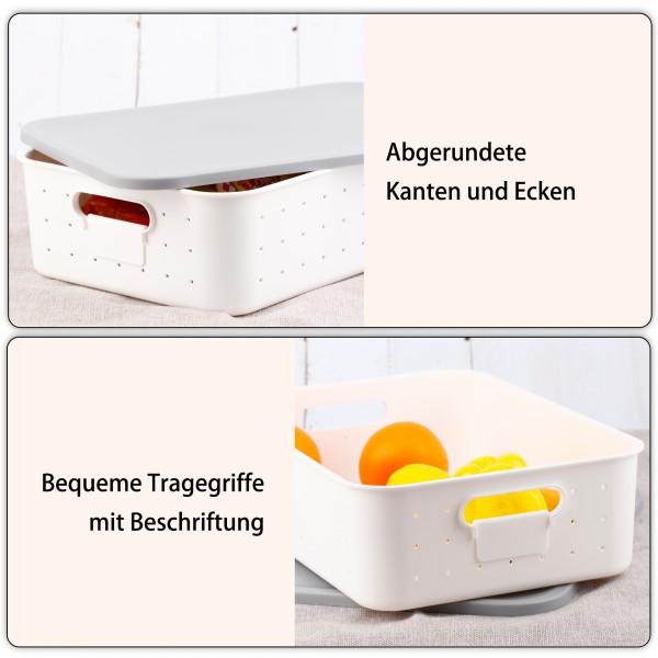 Aufbewahrungsbox M Deckel Grau