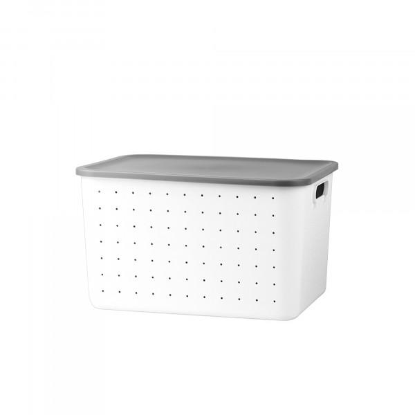 Aufbewahrungsbox L Deckel Grau