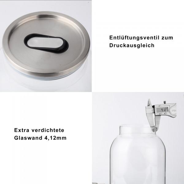 Getränkespender 3L Wasserspender Edelstahl Zapfhahn Ständer