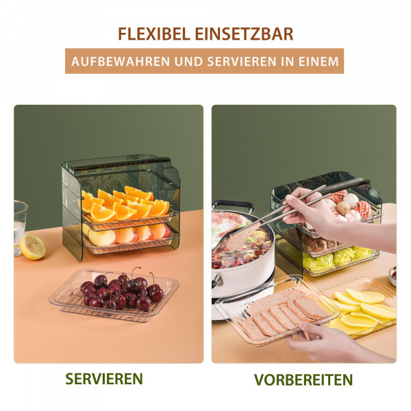 Küchen Organizer mit Tabletts Stapelbar