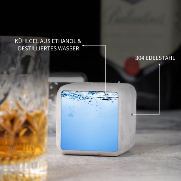 Edelstahl Eiswürfel 2er-Set Jumbo Rund