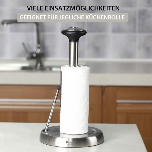 Küchenrollenhalter Edelstahl mit Federarm stehend