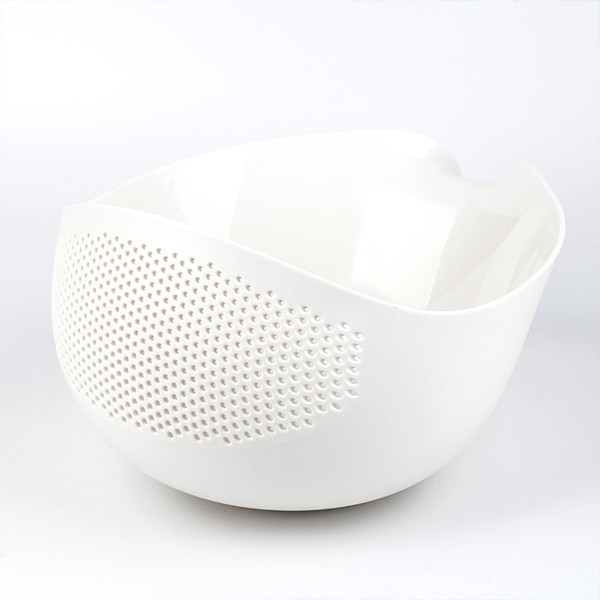 Design Küchen Sieb / Abtropfsieb Weiß