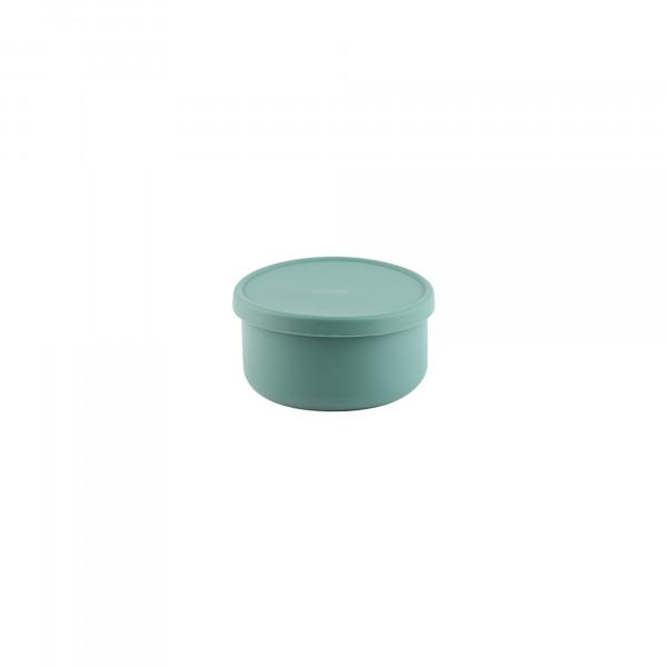 Silikon Schüssel mit Deckel Grün L