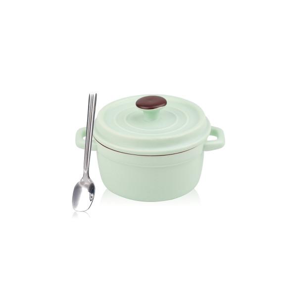 Mini Cocotte Grün Keramik