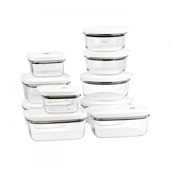 XXL Set Frischhaltedosen aus Glas