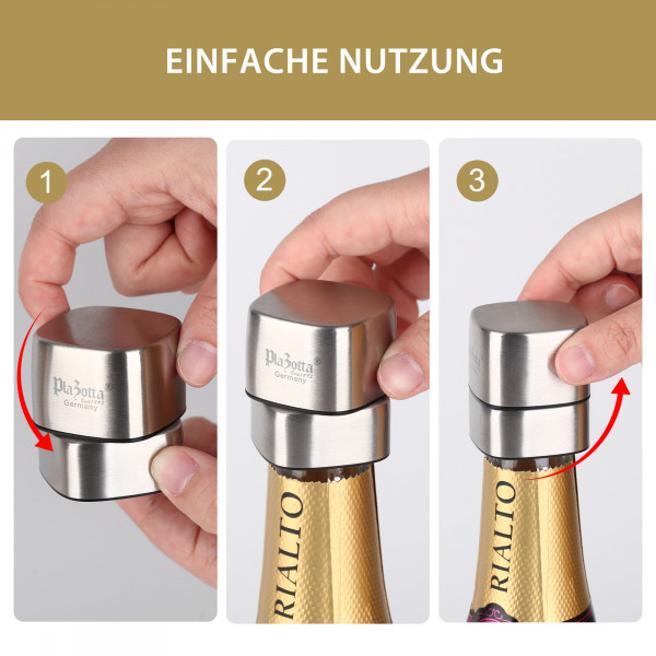 Edelstahl Champagner Verschluss Sektverschluss