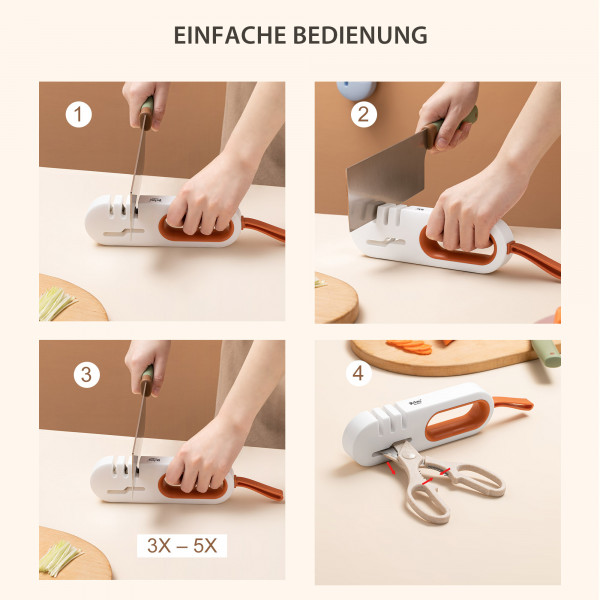4-Stufen Messerschärfer Scherenschärfer